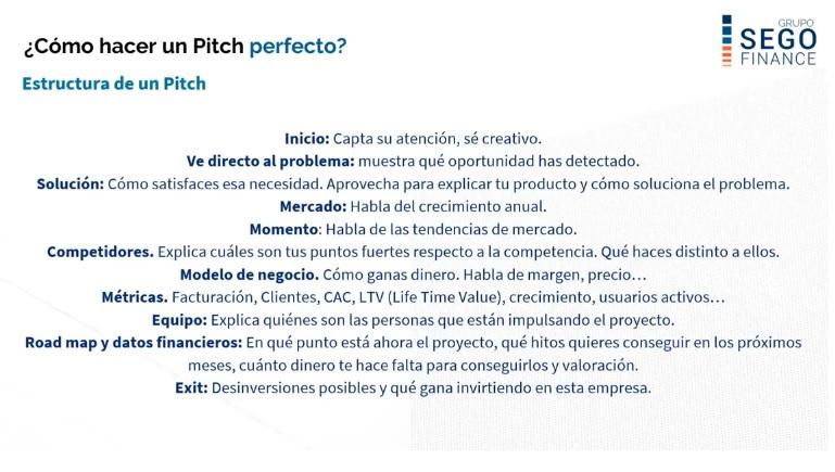 Cómo hacer un Pitch perfecto